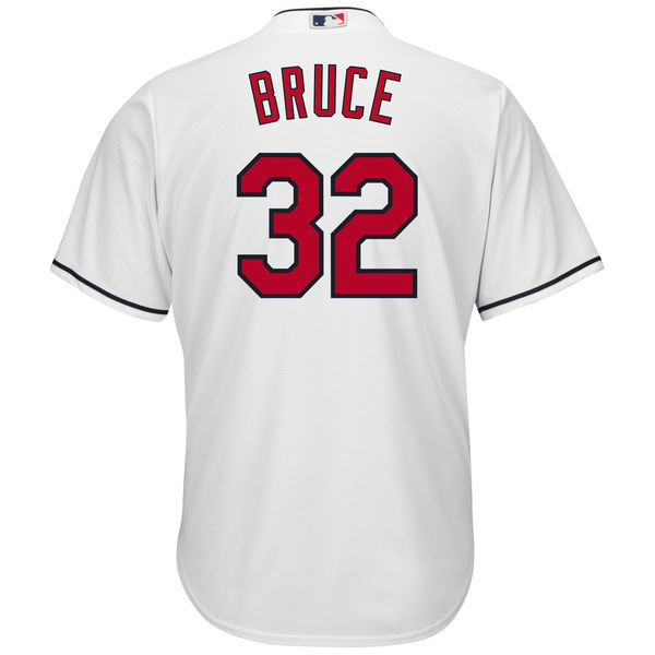 MLB Mens Cleveland Indians Jay Bruce Baseball White Cool Base Player Jersey