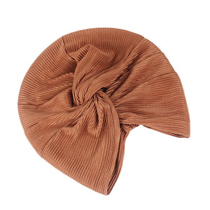 Image 5 - Casquette en Satin pour femmes musulmanes, Turban pour dormir, couvre chef, bonnet pour patients atteints de Cancer, accessoires de perte de cheveux