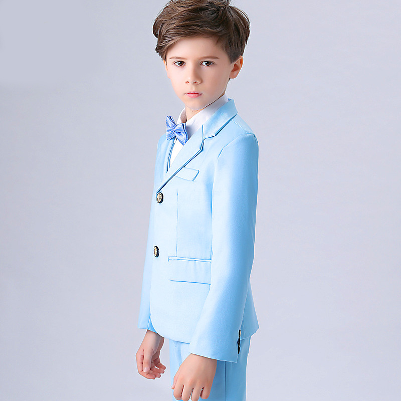 England Style Man Child Blue Boy Suit Tuxedos Boys Formal Suits Boys Formal  Suits For Weddings 2d6db8c6a886