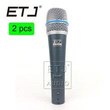 57 Beta 57A ETJ Marca 2 pcs atacado de Alta Qualidade Clear Sound Handheld Com Fio Microfone de Karaokê