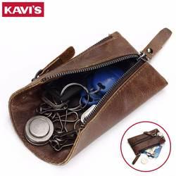 Кавис Пояса из натуральной кожи ключница ключ кошелек салона автомобиля сумка с монета держателя карты брелок кольцо Обёрточная бумага FO