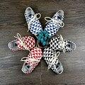 Zapatos de Bebé de calidad superior de Cuero Genuino Hecha A Mano Del Bebé Mocasines con cordones plaid baby boy Primeros Caminante Bebe recién nacido