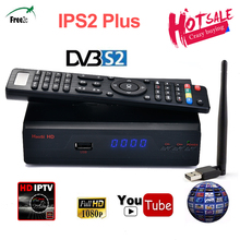 IP-S2 Plus Best HD 1080p DVB S2 satellite Receiver Support 1 Year Spain CCCAM/French Europe IPTV 2500+TV  high quality