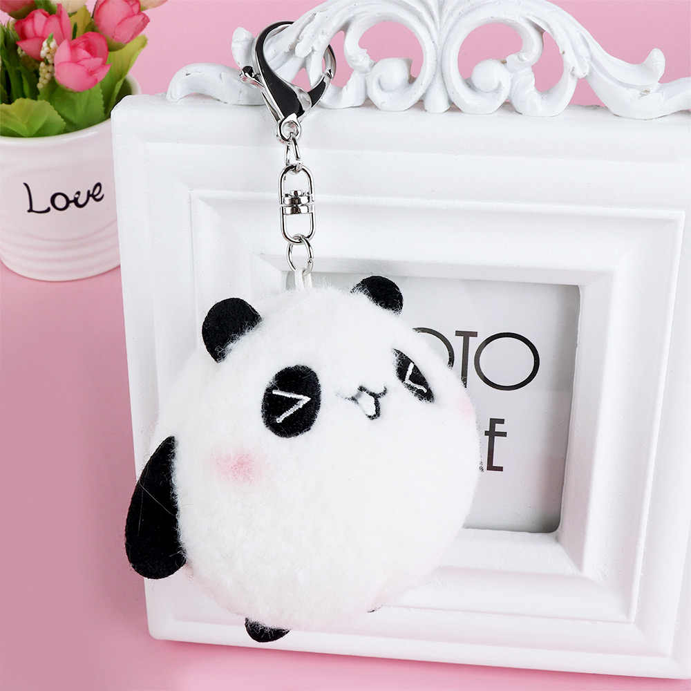Мультяшный плюшевый черный белый милый брелок с пандой держатель автомобильных брелоки для мужчин женщин сувенир подарок на день рождения chaviro