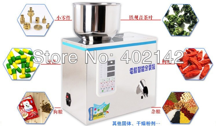 Small scale herb filling machine,granule weighing machine 2-50g  stainless steel granule weighing filling machine with feeder