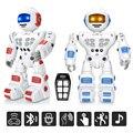 Bluetooth RC игрушка-робот дистанционного управления игрушки интеллектуальная Роботизированная Танцы Пение жесты зондирования запись робот иг...