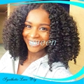 Short Black Curly Wigs Fiber Afro kinky Curly Hair Wigs Synthetic Lace Front Short Wigs For Black Women Lace Front Hair In Stock
