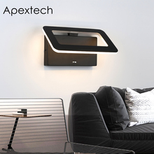Apextech Folding LED Wall Lamp 3 Colors In 1 Bedroom Bedside Mounted Night Lights Living Room Reading Light For Home