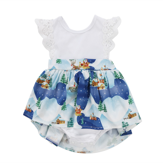 b9d12219b4a Cute Girls Matching Outfits Infant Baby Girl Little Big Sister Ruffles  Christmas Clothes Romper 0-6T Dresses Headband Summer