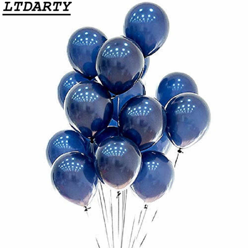 20pcs 5/10/12inch Ink blue balloons dark blue latex balloon birthday wedding party decor Valentine's Day Inflatable Air Ball