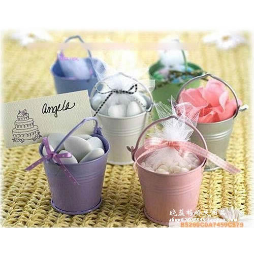 10 x Mini Chocolate lindo Cubo de dulces barril fiesta de boda favores besos DIY