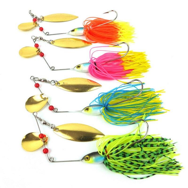 Rubber Jig 16.3G/19.8G/19.5g/17.4g/20.5G/17G/14.8G Spinner Bait Lure Fishing Hard Bait Blades Hook Metal Spoon jigging lure set