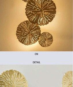 Image 3 - Altın lüks duvar lambası arka plan ev kapalı oturma odası yatak odası yaratıcı moda aydınlatma Modern cam küre ışıkları LED