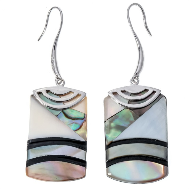 25ffa905f 925 Sterling Silver Abalone Shell Dangle Drop Earrings Birthday Jewelry  Gifts for Women Wife Her Girlfriend