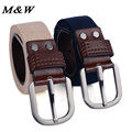 Fashion wholesale Real brand Belt for Men and Women Cinto Pin Buckle Canvas cowboy knitted Strap Casual Striped belt