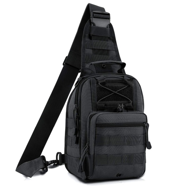EDC Molle Sling Bag Military Shoulder Backpack Chest Pack 600D Outdoor Tactical Men's Shoulder Backpack Men's Hand Pouch