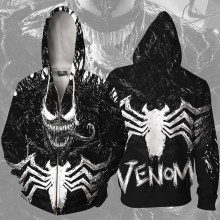 цена Venom spider man Movie Sweatshirts Hoodie Jackets Men Women Top 3D Print Coat Cosplay Costume онлайн в 2017 году