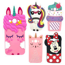 Case For Huawei Y3 2017 5.0 Soft Silicone 3D Cute Cartoon Back Phone Cover Capa Y5 lite CRO-L02 CRO-L22