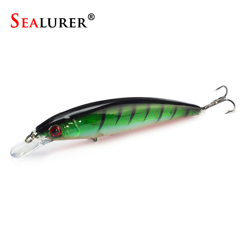1PCS/LOT Fishing Lure Minnow Lures Hard Bait Pesca 11CM/13.5G Fishing Tackle isca artificial Quality Hook Swimbait 1pcs minnow fishing lure 3d eyes 10cm 8 5g pesca bait isca artificial peche wobbler 6 hook carp fishing tackle wq202