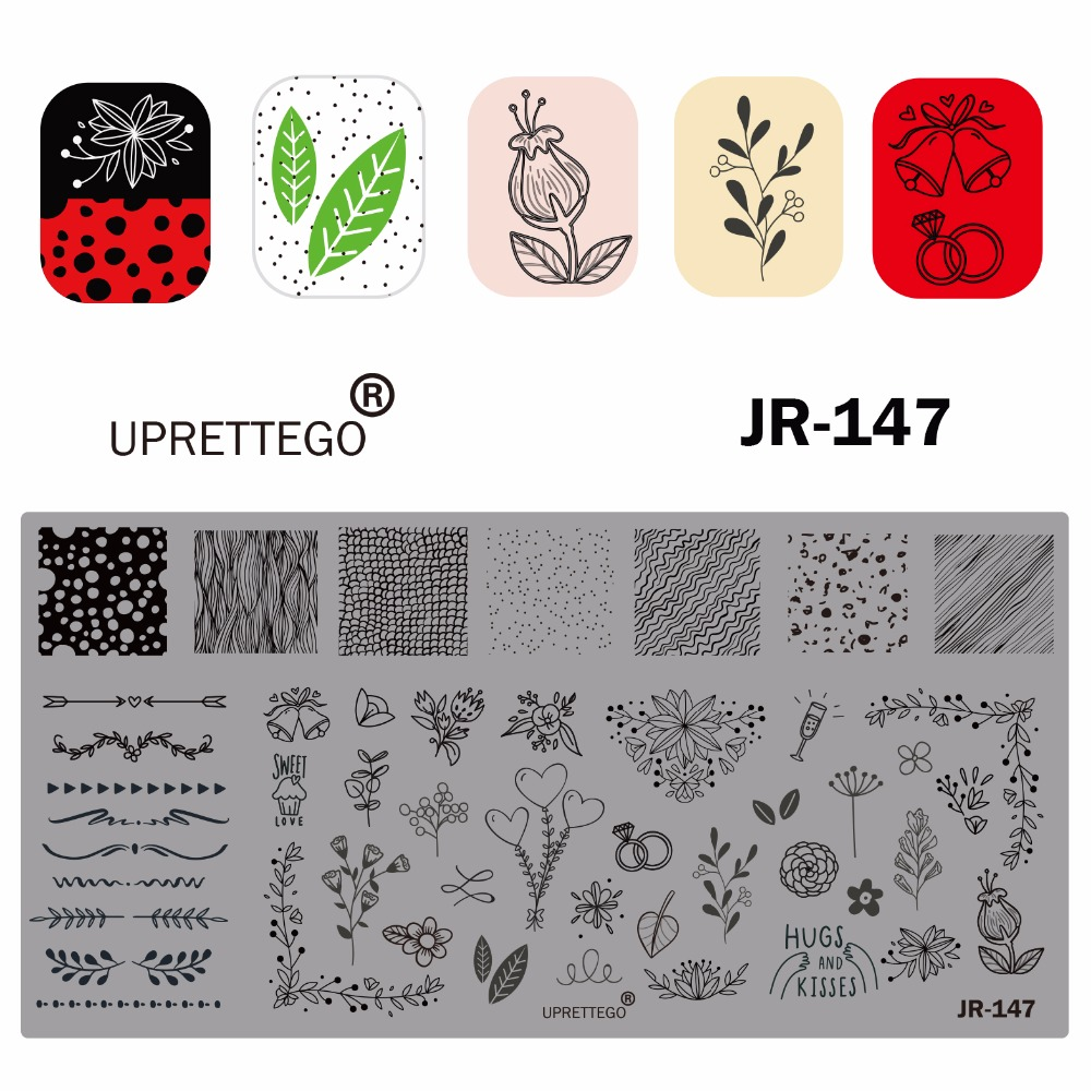 Image 3 - 2019 Stainless Steel Stamping Plate Template Russian Phrase Poker Vintage Flower Cactus Mexico Music Notes Nail Tool JR141 150-in Nail Art Templates from Beauty & Health
