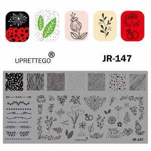 Image 3 - 2019 Stainless Steel Stamping Plate Template Russian Phrase Poker Vintage Flower Cactus Mexico Music Notes Nail Tool JR141 150