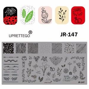 Image 3 - 2019 paslanmaz çelik tırnak yapıştırması şablon rus cümle Poker Vintage çiçek kaktüs meksika müzik notlar tırnak aracı JR141 150