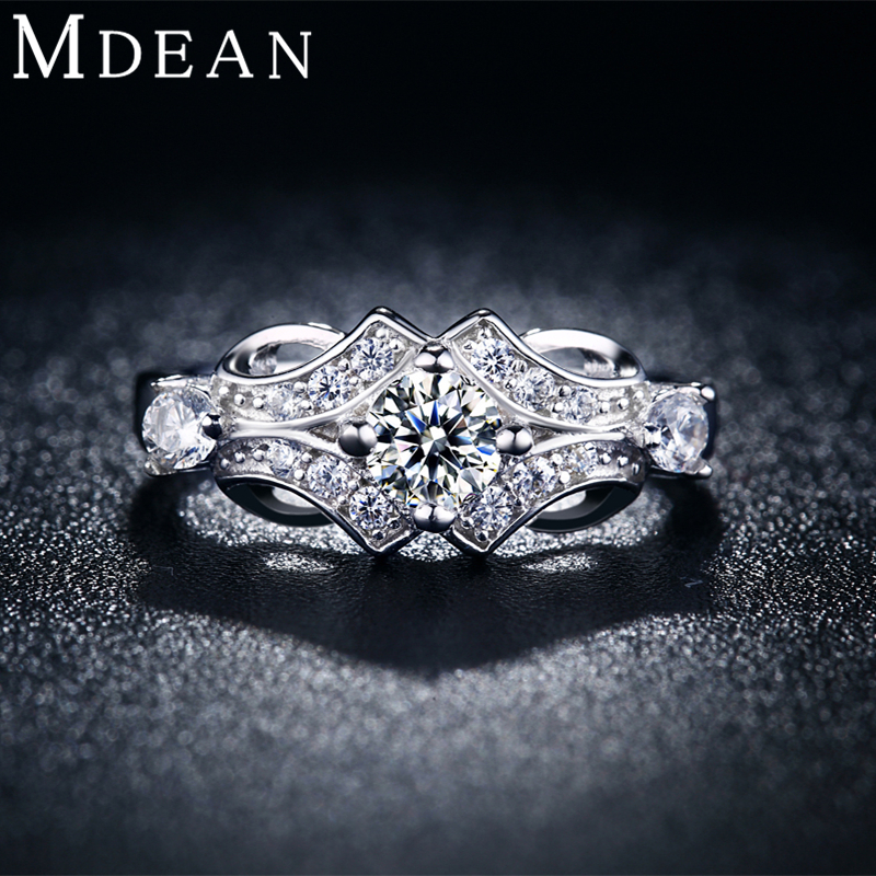 MDEAN white gold plated Rings...