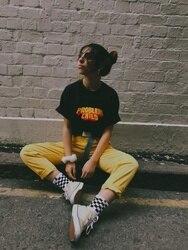Детская черная футболка с принтом «HAHAYULE-JBH Problem», футболка унисекс с принтом гранж, уличный стиль, летняя футболка