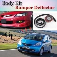 For HONDA Jazz Fit Type R Bumper Lip Lips / Car Lip Shop Spoiler For Car Tuning / TOPGEAR Body Kit + Strip