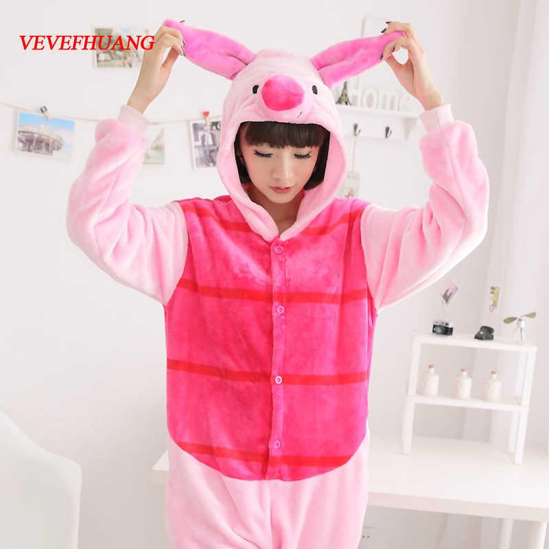 Vevefhuang унисекс для взрослых фланель Пятачок свинья Косплэй пижамы  животных Комбинезоны для Для женщин Для мужчин 63cee6c4f62cd