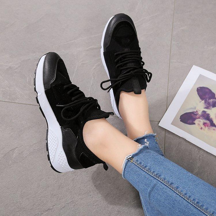 Noir Plate Femmes Femme Pour Respirant Printemps K244 Talons blanc Nouveau Sneakers Confortable rouge 2018 Chaussures Sauvage Casual forme nzZgwq