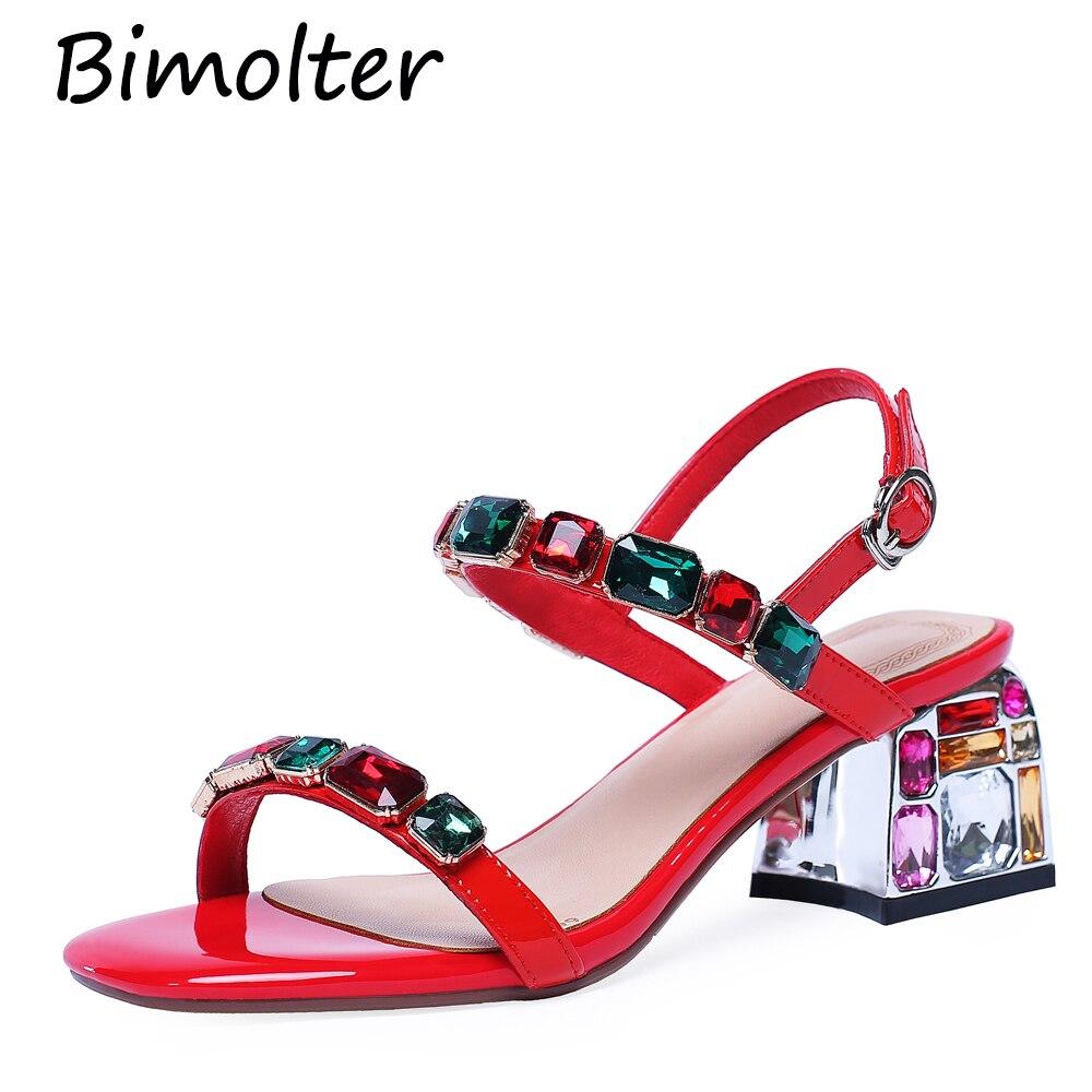 Sexy Mujer 43 Las Sandalias Bombas Imitación Moda Gran Sapato Verde Diamantes rojo 2019 Nb118 Bimolter Verano Zapatos blanco De Tacón Mujeres Femenino Alto Tamaño OqwTf4cCp