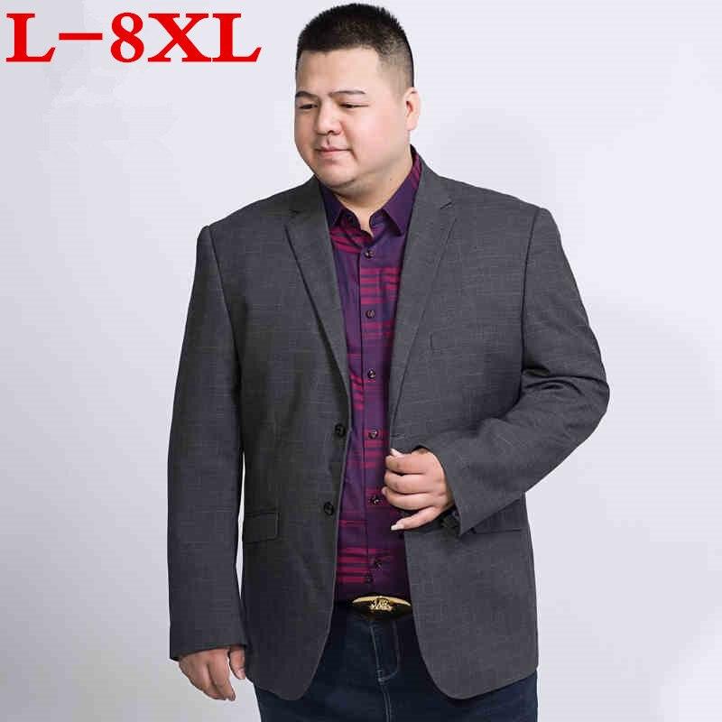 8XL plus la taille Hommes de casual Loose fit solide costume Blazer veste hommes de mariage robe blazer mâle costume gris hombre blazer masculino