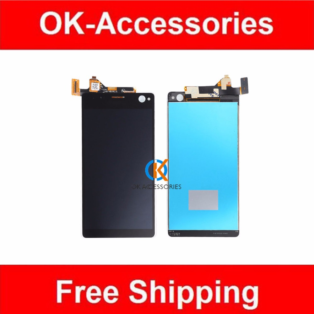 ФОТО Black White For Sony Xperia C4 E5303 E5306 E5333 LCD Screen Display With Touch Screen Digitizer Assembly 1PC/Lot