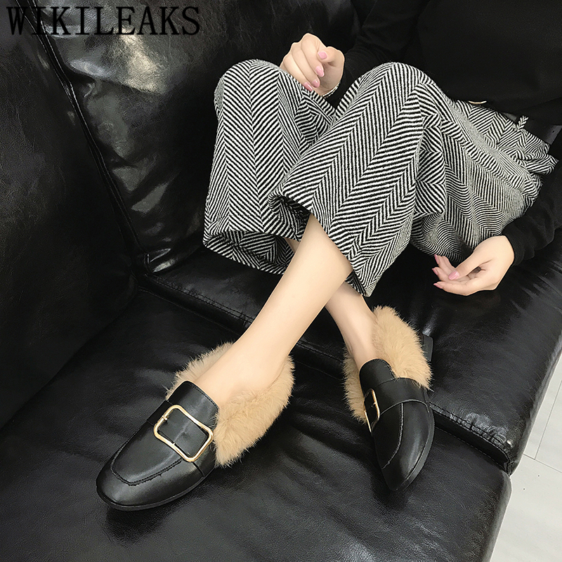 Femmes Mocassins Femme Luxe Tenis 1 Sapato Designers 2 Feminino Creepers Casual Fourrure Plat De Chaussures Appartements EqHwAAB