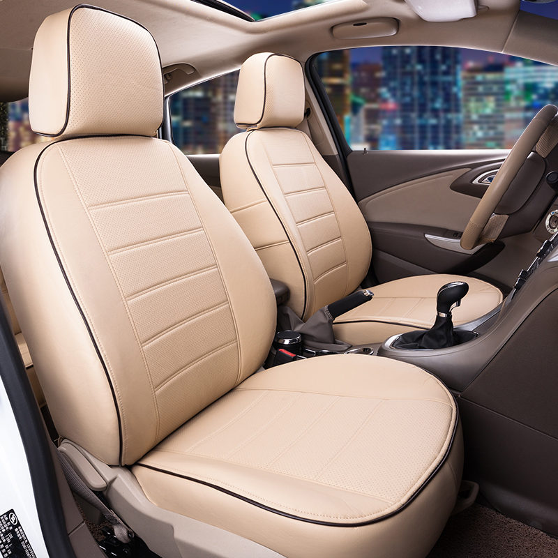 AutoDecorun Custom Fit PU leather Seat Covers for Toyota RAV4 2017 Accessories Car Seat Cover Set Cushion Seat Protector Support