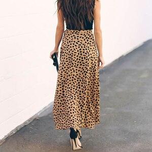 Image 3 - Surmiitro jupe longue imprimée à pois, jupe dété féminine, noire et blanche, fendue, taille haute, ligne a, mode 2020