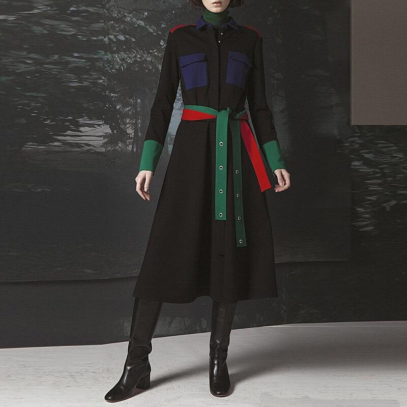 Hot Sale Long Dress Milan Runway High Quality 2018 Autumn New