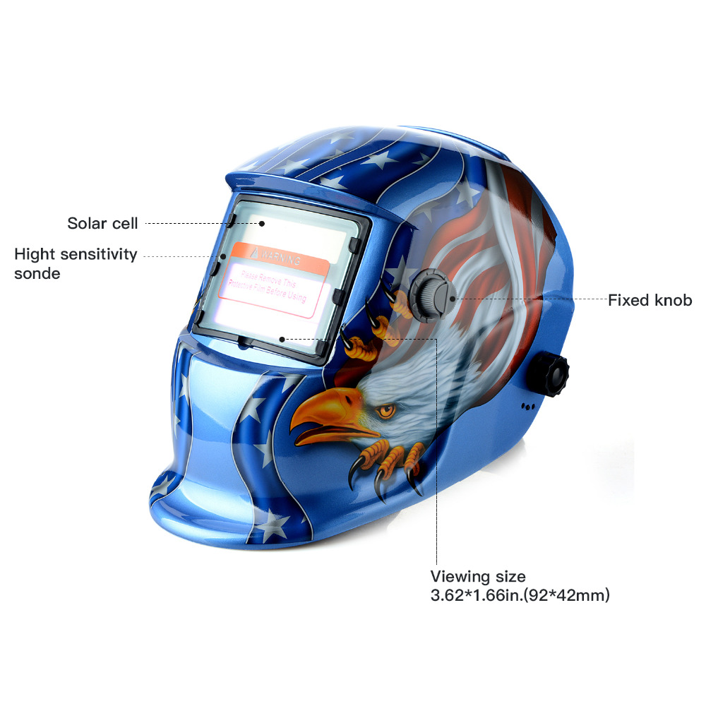 New Adjustable Auto Darkening MIG MMA Electric Welding Mask Helmet Welding Lens For Welding Machine OR Plasma Cutter white skull solar auto darkening tig mig mma electric welding mask helmet welder cap lens for welding machine or plasma cutter