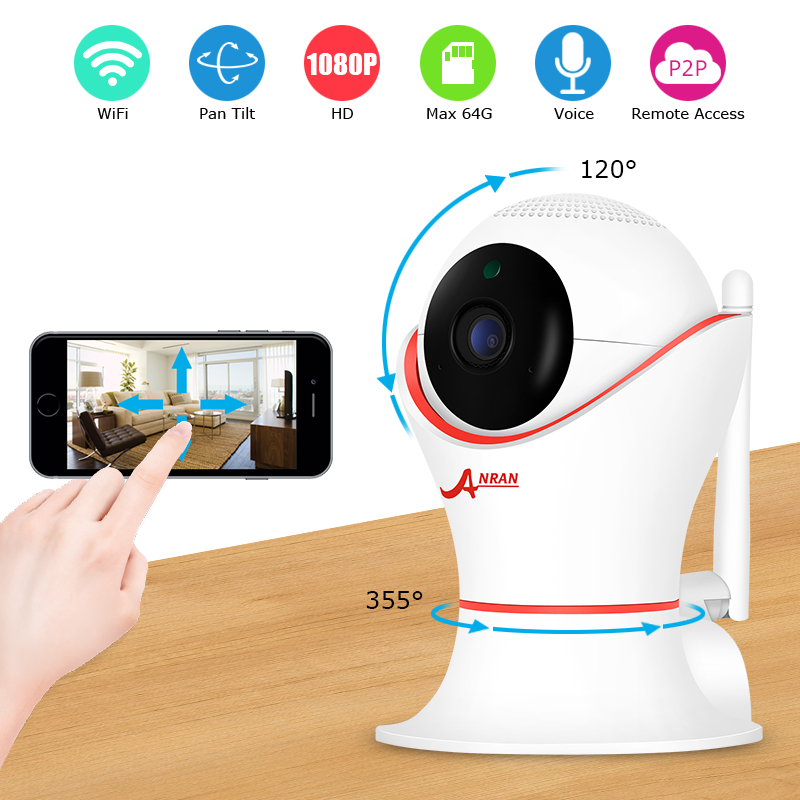 ANRAN Wireless IP Camera 1080P CCTV Security Camera Home Surveillance WIFI Baby Monitor IR Night Vision Indoor P2P Camera wireless security ptz ip camera wifi home surveillance 1080p night vision cctv camera ip onvif p2p baby monitor indoor 3d camera