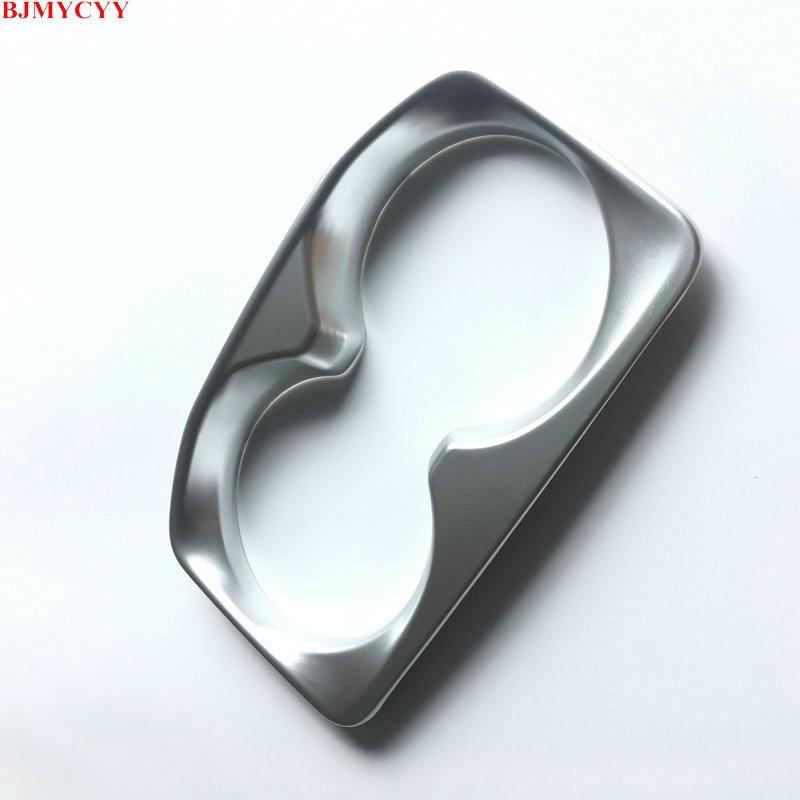 BJMYCYY Chrome Cup Holder Trim Cover Frame For Peugeot 3008 GT 5008 - Ավտոմեքենայի ներքին պարագաներ - Լուսանկար 5