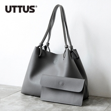 2016 designer Brand Leather bolsas femininas Women bag ladies Pattern Handbag Shoulder Bag Female Tote Bag 2 in 1