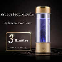 Generador de agua de hidrógeno alcalino fabricante recargable portátil ionizador de agua Super Antioxidan la taza de agua rico en hidrógeno