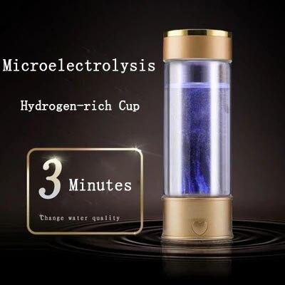 Hidrógeno generador de agua alcalina fabricante portátil recargable ionizador de agua botella súper Antioxidan ricos en hidrógeno taza de agua