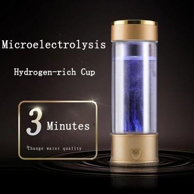Titanium Portable Hydrogen-Rich Water Cup Water Ionizer Maker/Generator Super Antioxidants ORP Hydrogen Alkaline Water Bottle