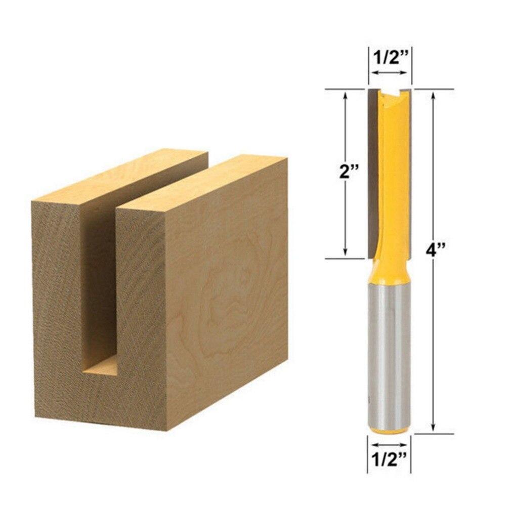 DRELD 1 stück Holz Cutter 1/2 Schaft Extra lange Gerade Router Bit Fräser Holz Werkzeuge herramientas para carpinteria