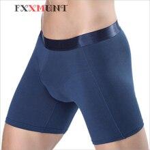 Men Boxer Plus Size Long Boxer Shorts Men Underwear Cotton Boxer Red Male Underpants Cueca Boxer Underwear Men Trunks CP07