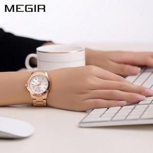 Image 3 - MEGIR นาฬิกาข้อมือคู่นาฬิกาข้อมือ Relogio Feminino นาฬิกาผู้หญิง Montre Femme ควอตซ์สุภาพสตรีนาฬิกาสำหรับคนรัก