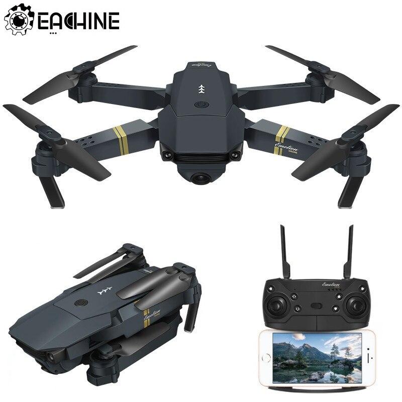 Eachine E58 WIFI FPV avec caméra grand angle HD mode de maintien élevé bras pliable drone quadricoptère RTF VS VISUO XS809HW JJRC H37