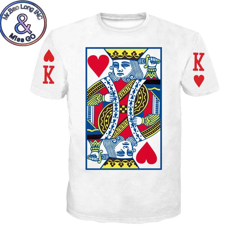 Funny 3D Poker Print T-shirt Men Women 2018 Brand New Summer Short Sleeve Tee Shirt Homme Casual Hip Hop Tshirt Camiseta Hombre